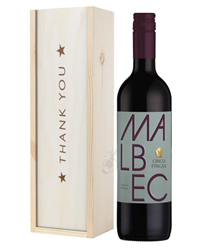 Argentinian Malbec Red Wine Thank Y...