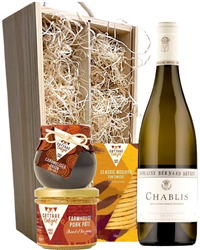 Chablis And Gourmet Food Gift Box