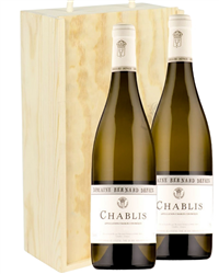 Chablis Two Bottle Wine Gift in Woo...
