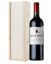 French Bordeaux Red Wine Gift in Wo...