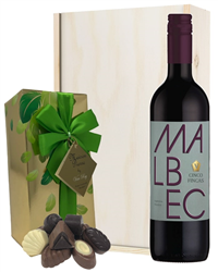 Malbec Wine and Chocolates Gift Set...