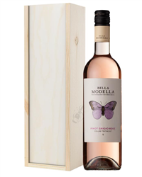 Pinot Grigio Rose Wine Gift in Wood...