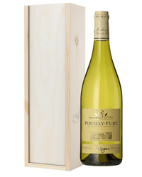 Pouilly Fume White Wine Gift in Woo...