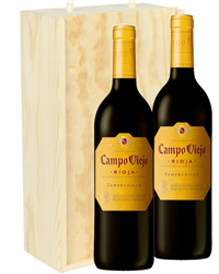 Rioja Two Bottle Wine Gift in Woode...