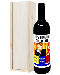 Social Distancing Red Wine Gift